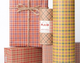 Plaid Gift Wrap Package / 12 Sheets