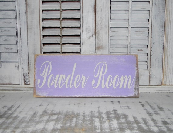 Cottage Bathroom Wall Decor : Bathroom sign powder room wall decor cottage chic country home