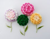 Crochet Brooch - Corsage - Applique - Rose Brooch - Any Color - Made to Order