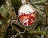 Original Art Pendant Necklace: Looking Through the Lens of Time