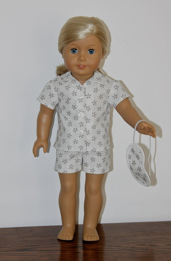 SALE Pajama Short & Sleeping Mask for American Girl Doll