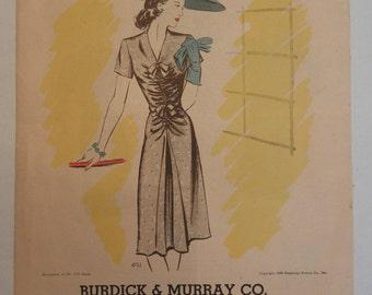 1940's Prevue Simplicity Fashion Pattern Booklet - August 1943- Pattern Magazine