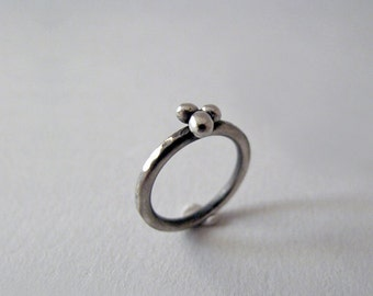 Sterling Silver Pinky Ring, Stacking Ring, Little Finger Silver Ring, Chevalier Ring