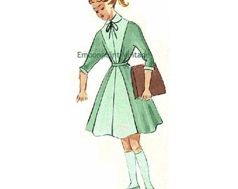 Plus Size (or any size) Vintage 1949 Girls' School Uniform Sewing Pattern - PDF - Pattern No 110 Polly
