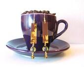 Falling Down Starbucks Jewelry Earrings for Women