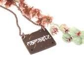 Namaste Necklace, Yoga Necklace, Namaste Jewelry, Yoga Jewelry, Yoga Gift, Spiritual Jewelry
