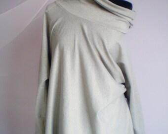 Cotton-wool stretch soft maternity blouse,tunic,sweater plus size