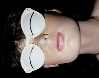 60s Courreges RARE Eskimo Lunettes Sunglasses / Iconic 1965 Andre Courreges Slit Sunglasses, New Old Stock, France