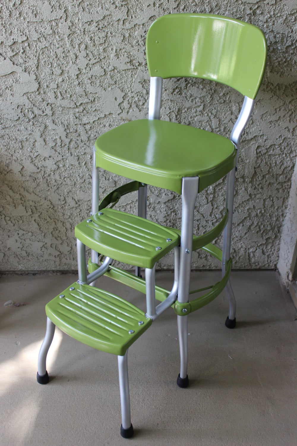 Vintage Green Cosco Step Stool