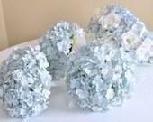 articles similaires à bouquet de lumière papier bleu hortensia