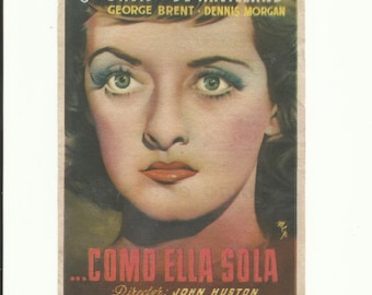 Free shipping-Vintage film flyer - In This Our Life - Bette Davis, Olivia de Havilland