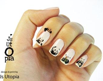 Panda Water Transfer Nail Sticker