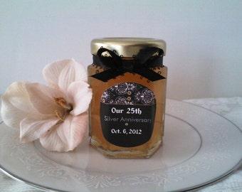 Anniversary or Wedding Mini Jam Favors // 2 Oz Each // 50 Custom Favors