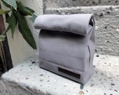 Paper Clutch - Lunch Bag Inspired Canvas Clutch