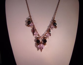 Copper Gothic beaded necklace