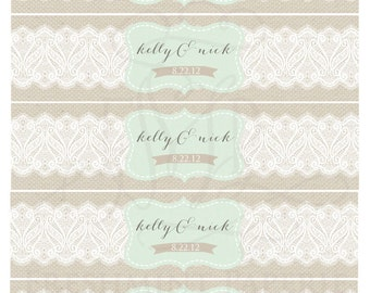 water bottle labels wedding – Etsy CA