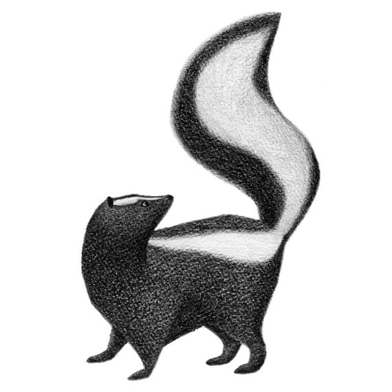 A Tail and a Skunk - 4x6 print