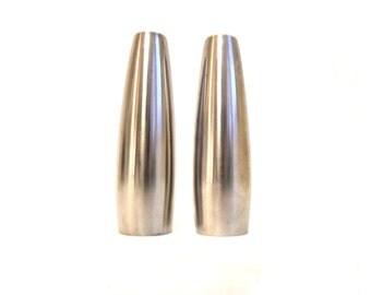 Dansk Odin Salt & Pepper Shakers Modern Stainless Steel Jens Quitsgaard
