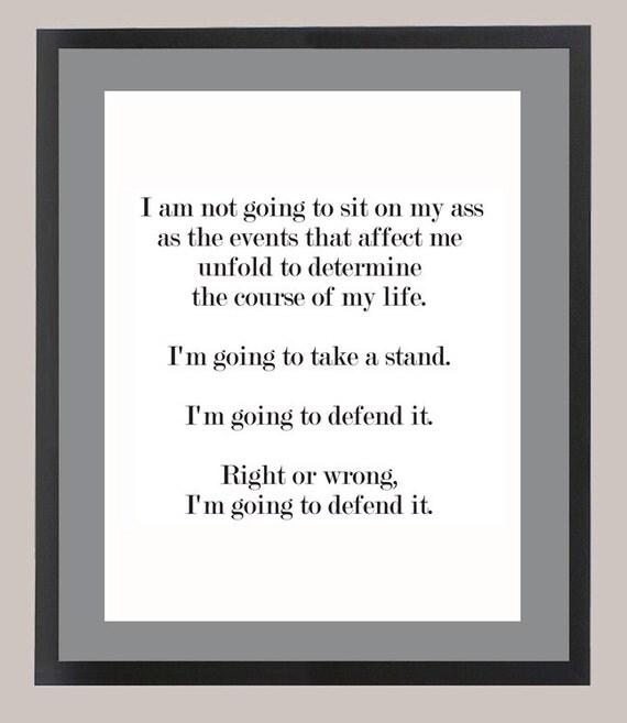 Ferris Bueller Quote: Ferris Bueller's Day Off Quote 11 X 14 Inspiration Print