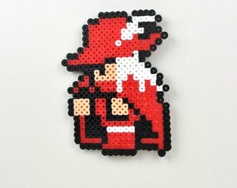 Red Mage Magnet Final Fantasy 1 Perler Bead Nintendo