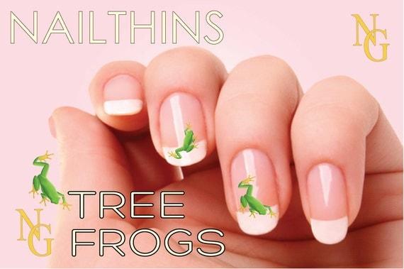 Tree frog nail decal nail art nailthins nail design like this item prinsesfo Images