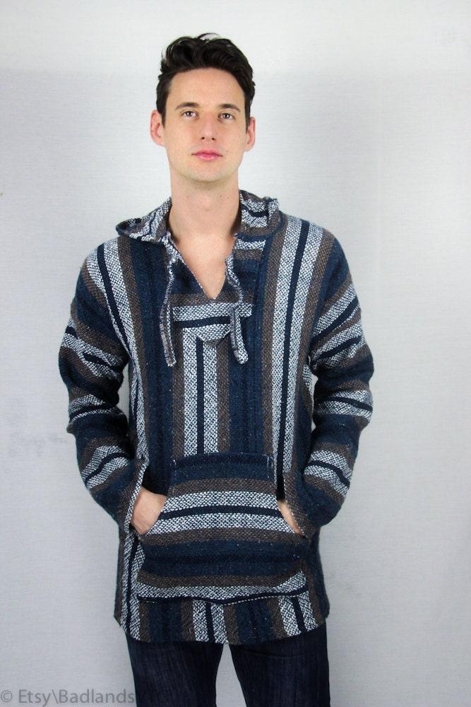 Woven baja hoodie