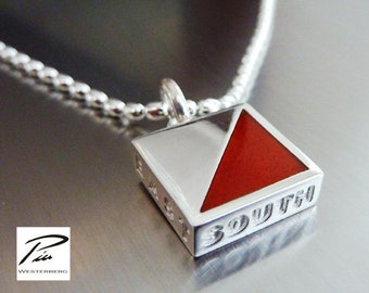 Orienteering Silver Necklace with chain