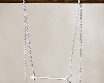 Delicate Arrow Necklace - Sterling Silver OR 14kt Gold Plated