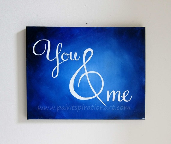 Wedding Gift Canvas Painting : Original Canvas Painting Unique Wedding Gifts - Romantic Art Blue Home ...