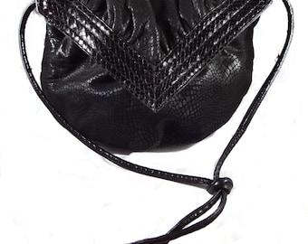 Vintage Sondra Roberts Black Textured Shoulder Bag