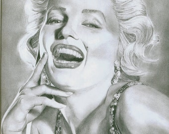 Graphite Drawing, Marilyn Monroe, Limited edition print