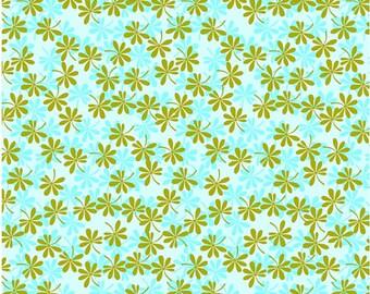 Leaf Fabric - Bella Flora Fabric Small Leaves by Studio E E60 1551 11 - 1/2 yard