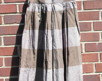Vintage Handmade Plaid Midi Skirt