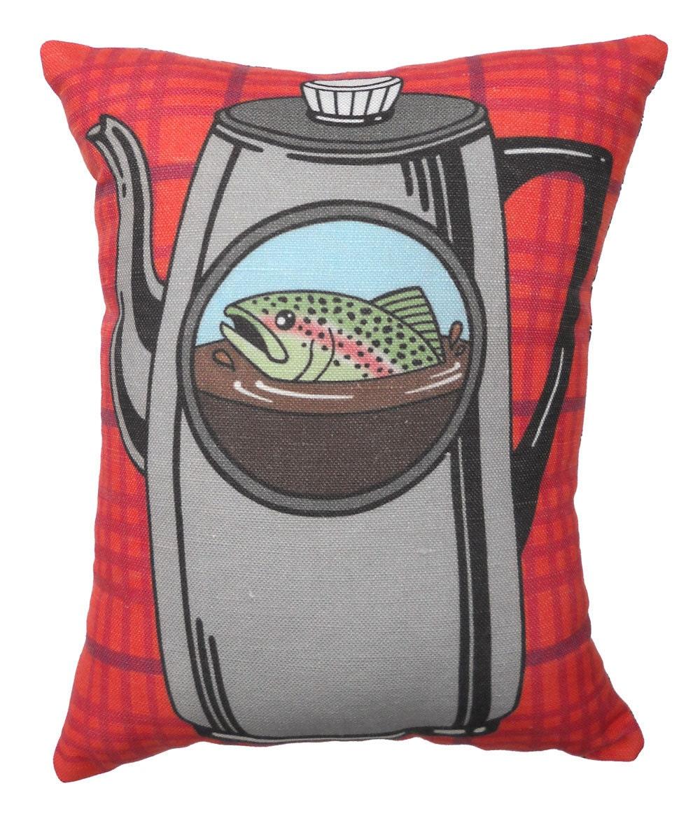 Fish in the Percolator Pillow Twin Peaks Tribute