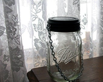 Solar Mason Jar, Hanging solar light, Mason Jar lantern, Mason Jar Luminary. Includes jars and solar light.