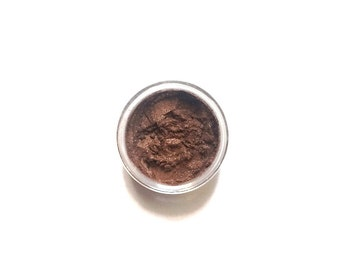 Vegan Mineral Eyeshadow // Bronze //  Metallic Bronze Shimmer Mineral Eye Shadow