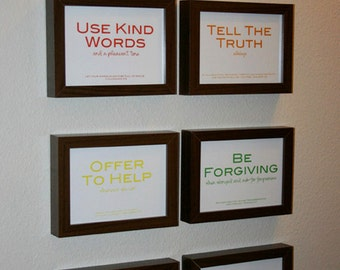 Family Rules print set: 6 5x7 prints