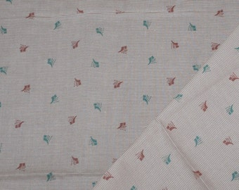 1950s Vintage Menswear Fabric~Sienna Brown and Teal Green~Mid Century Pattern~Cotton Fabric~1 and 1/2 Yards~Price Reduced