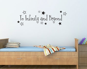 To Infinity and Beyond Decal - Boys Bedroom Wall Art - Wall Sticker - Large