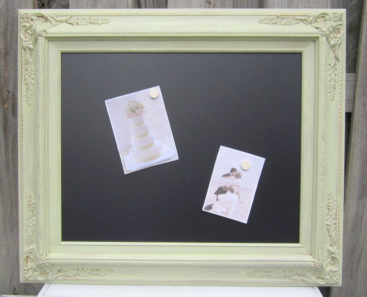 Ornate framed chalkboard for sale 27x23 celery for Framed photos for sale