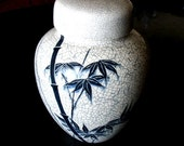 Large Urn Style Ginger Jar Signed Vintage Art Container Storage Pottery for Tea Bags Etc.