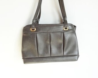 Vintage Purse or Clutch in Grey and Orange