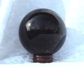 4 inch Black Obsidian Sphere HUGE,100mm, scrying, crystallomancy, spell, gemstone orb, crystal ball, psychic, divination, made to order