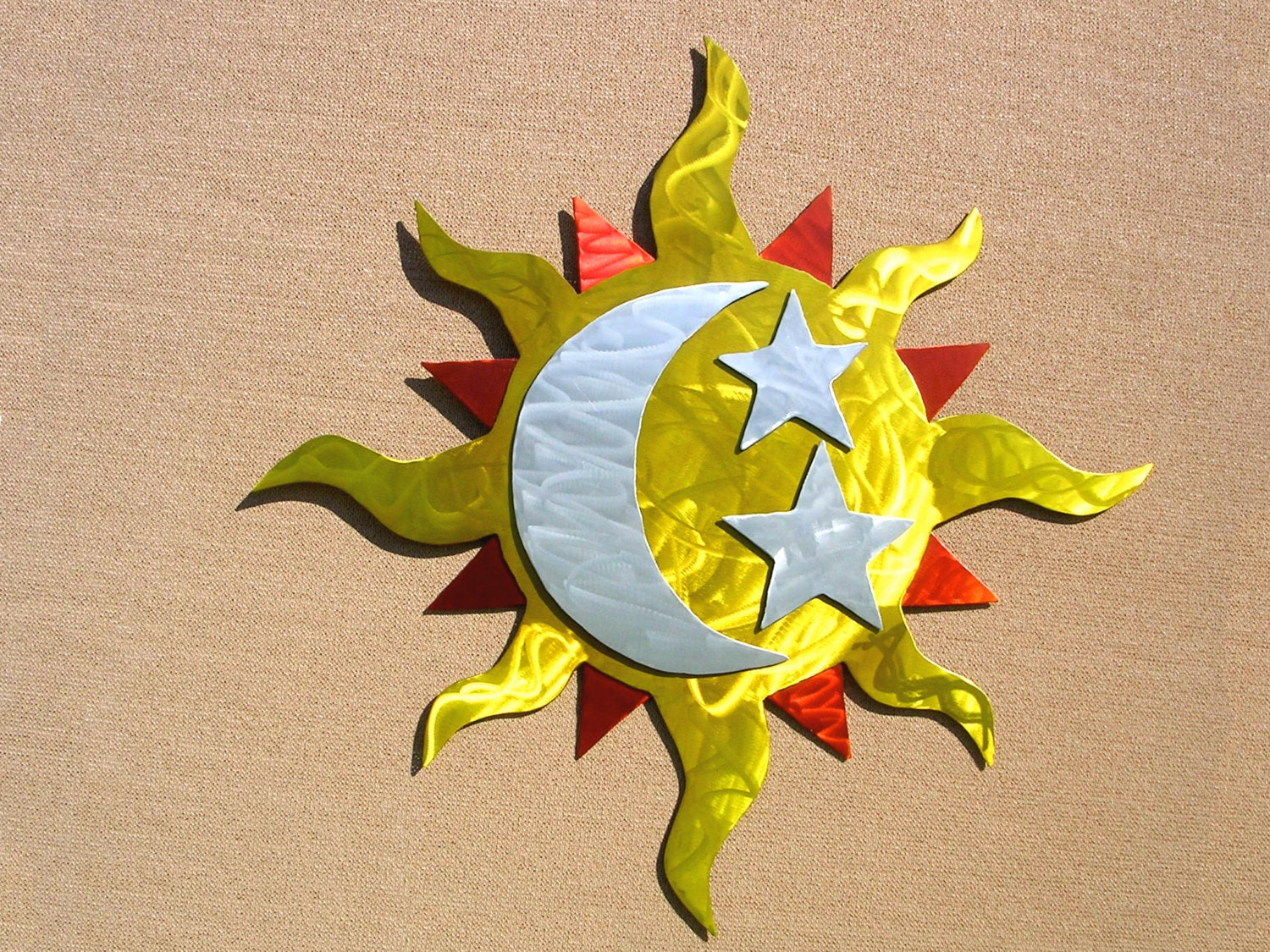 Funky Sun And Moon Metal Wall Art Mold - The Wall Art Decorations ...