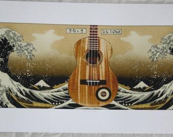 Eddie Vedder Poster - 2012 Ukelele Songs Tour / Pearl Jam