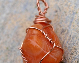 Place an Order for a Simple Copper Wire-Wrapped Healing Crystal (Pendant or Charm)
