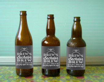 Personalized Beer Labels for Bachelor Parties