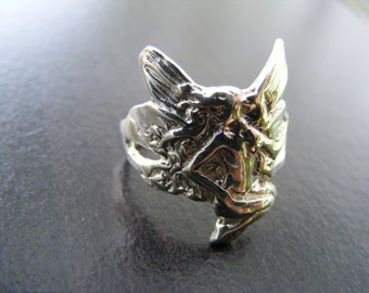 15% Off Sale.S108 New Sterling Silver Ornately Detailed Fairy Ring Mount
