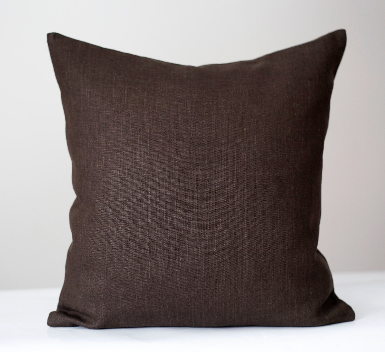 Throw Pillows For A Chocolate Brown Couch : Linen sham chocolate brown throw pillows pillow cover