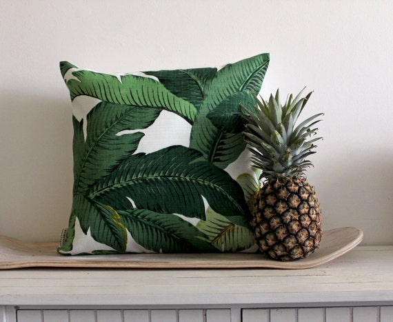 Tommy Bahama // Palm Print Cushion Cover // 40 x 40cm // Jungle Green // As Seen at The Sydney Writers' Festival 2013